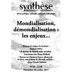 Synthèse nationale n°25 - nov-déc 2011