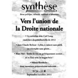 Synthèse nationale n°24 - sept-oct 2011