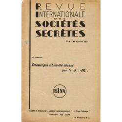 RISS - 1937, n°4 - dont : Doumergue a bien été chassé pat la F.-M.