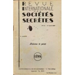 RISS - 1937, n°15 - dont : Faisons le point