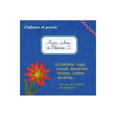 CD - Mon cahier de poésies 1