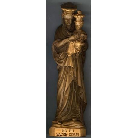 Statue ND du Sacré-Coeur, ton bois