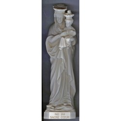 Statue ND du Sacré-Coeur (ton ivoire)