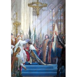 Carte postale Ste Jeanne d'Arc Charles VII