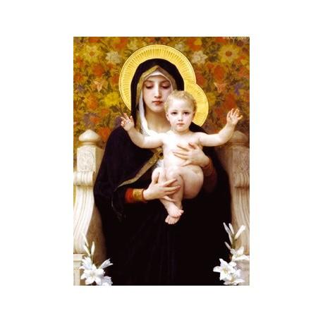 Carte postale - Vierge aux lys