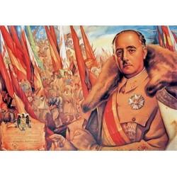 Carte postale - Général Franco