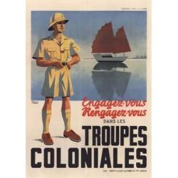 Carte postale - Troupes coloniales (jonque)