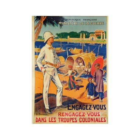 Carte postale - Troupes coloniales
