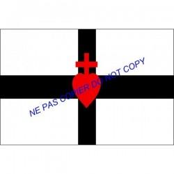 carte postale - Drapeau breton Sacré-Cœur