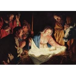 Carte de vœux - L'adoration des bergers