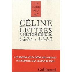 Lettres à Milton Hindus - Louis-Ferdinand Céline
