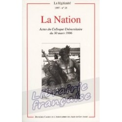 La Légitimité, cahier n°35 - Association des Amis de Guy Augé