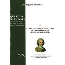 Question nationale sur l'autorité et sur les droits du Peuple dans le Gouvernement - Abbé Augustin Barruel
