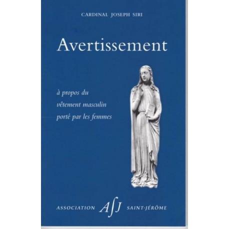 Avertissement - Cardinal Joseph Siri