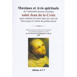 Maximes et avis spirituels de Saint Jean de la Croix