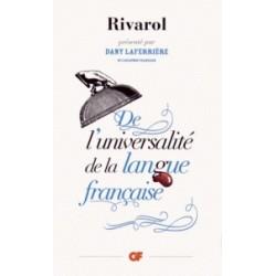 De l'universalité de la langue française - Antoine de Rivarol