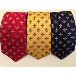 Cravate fleurdelysée