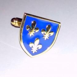 France, trois fleurs de lys (plaqué or) - Boutons de manchette
