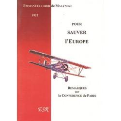 Pour sauver l'Europe - Emmanuel de Malynsky