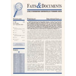 Faits & Documents - n°400 - du 15 juillet au 1 septembre 2015