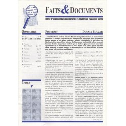Faits & Documents - n°413 - du 1 au 15 avril 2016