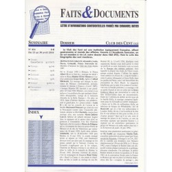 Faits & Documents - n°414 - du 15 au 31 avril 2016
