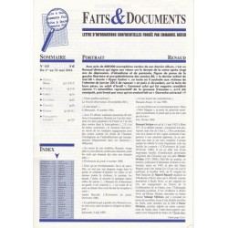 Faits & Documents - n°415 - du 1 au 31 mai 2016