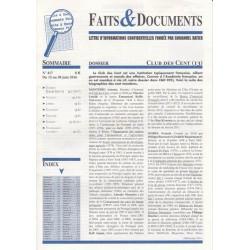 Faits & Documents - n°417 - du 15 au 30 juin 2016