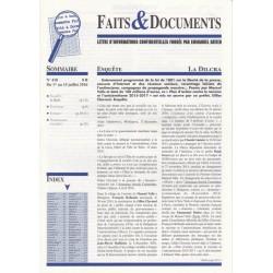 Faits & Documents - n°418 - du 1er au 15 juillet 2016