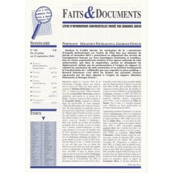 Faits & Documents - n°419 - du 15 juillet au 15 septembre 2016
