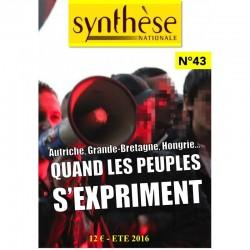 Synthèse nationale n°43 - Été 2016