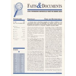 Faits & Documents - n°421 - du 1 au 15 octobre 2016