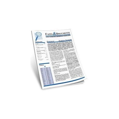 Faits & Documents - n°421 - du 1 au 15 octobre 2016