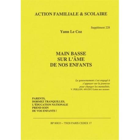 Main basse sur l'âme de nos enfants - Yann Le Coz