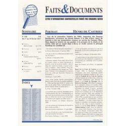 Faits & Documents - n°428 - du 1er au 15 février 2017