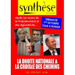Synthèse nationale n°46 -  Eté 2017