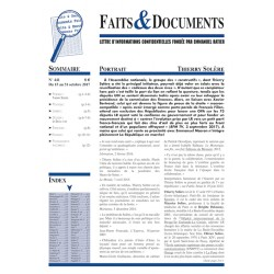 Faits & Documents n°441- Du 15 au 31 octobre 2017