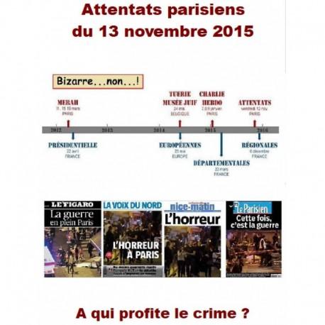 Attentats parisiens du 13 novembre 2015. A qui profite le crime ? - Jacques Delacroix