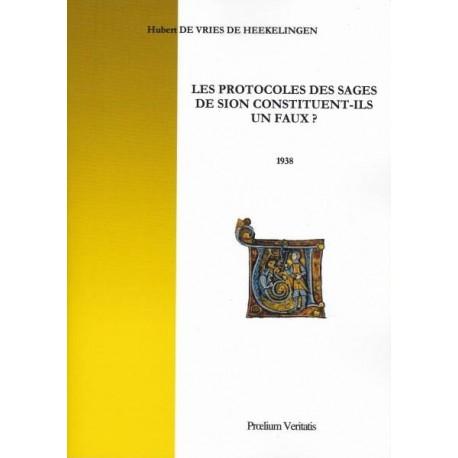 Les Protocoles des sages de Sion constituent-ils un faux ? - Hubert de Vries de Heekelingen