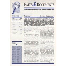 Faits & Documents n°452 - du 1er au 30 juin 2018