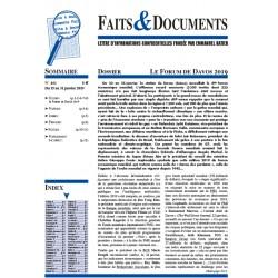 Faits & Documents n°461 - Du 15 au 31 janvier 2019