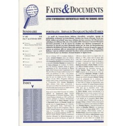 Faits & Documents n°462 - Du 1er au 15 février 2019