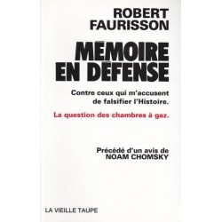 Mémoire en défense - Robert Faurisson