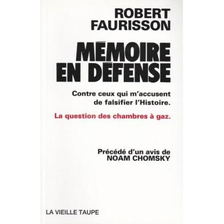 Mémoire en défense - Robert Faurisson