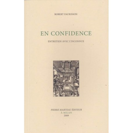 En confidence - Robert Faurisson