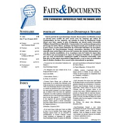 Faits & Documents n°464 - Du 1er au 15 mars 2019