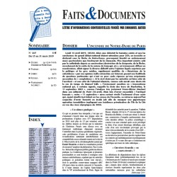 Faits  &  Documents n°465 - Du 15 au 31 mars 2019