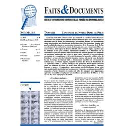 Faits  &  Documents n°465 - Du 15 au 31 mars 2019