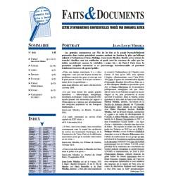 Faits & Documents n°466 -