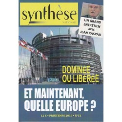 Synthèse nationale n°51 - Printemps 2019